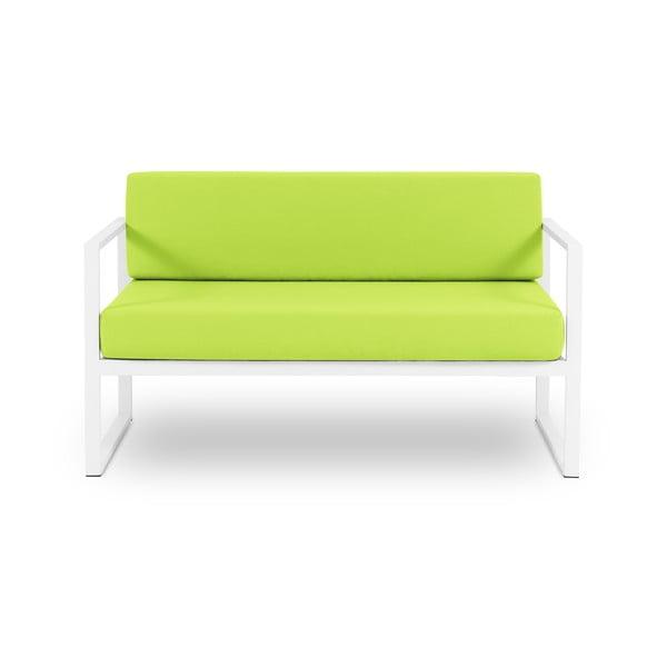 Canapea cu două locuri, adecvată pentru exterior Calme Jardin Nicea, verde lime