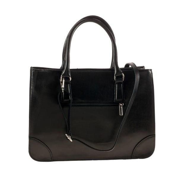 Černá kožená kabelka Ore Diece Benevento