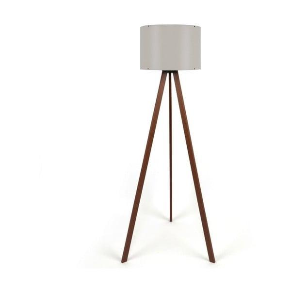 Lampa stojąca z beżowym abażurem Aiden