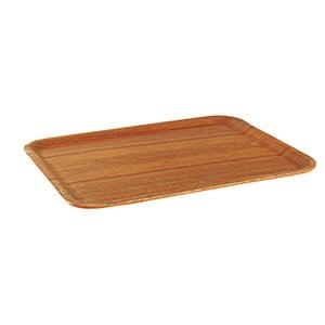 Protiskluzový dřevěný servírovací podnos Kinto Teak, 27 cm