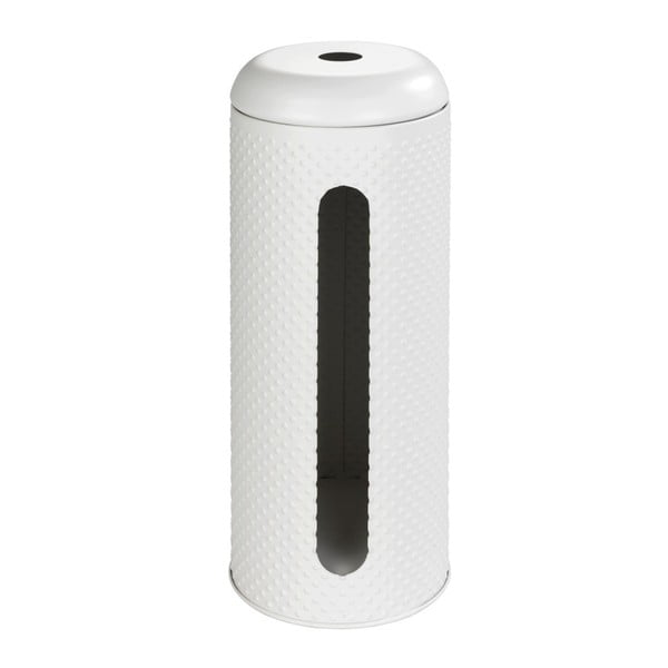 Bílý zásobník z nerezové oceli na toaletní papír Wenko Punto