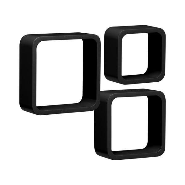 Set 3 polic Cubes, černý