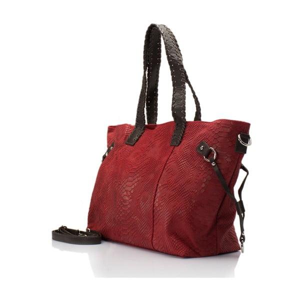 Kožená kabelka Piton, bordó