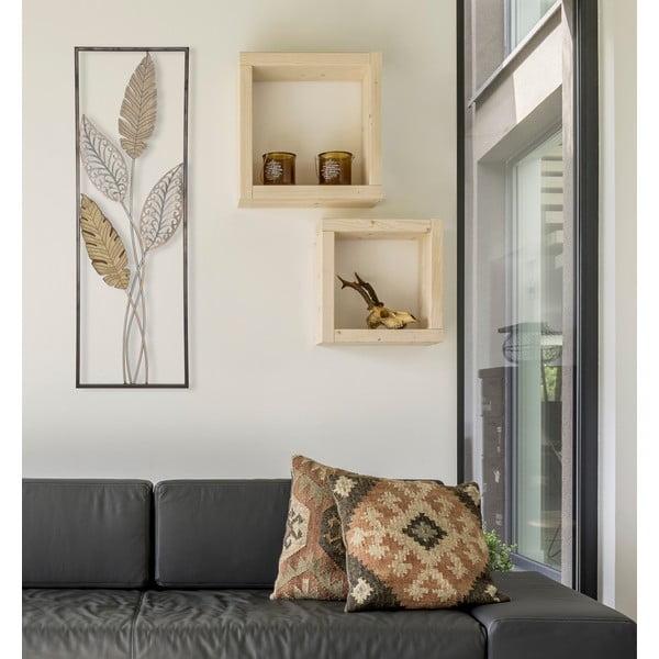 Decorațiune pentru perete Mauro Ferretti Foglie, 30,5 x 91 cm, auriu