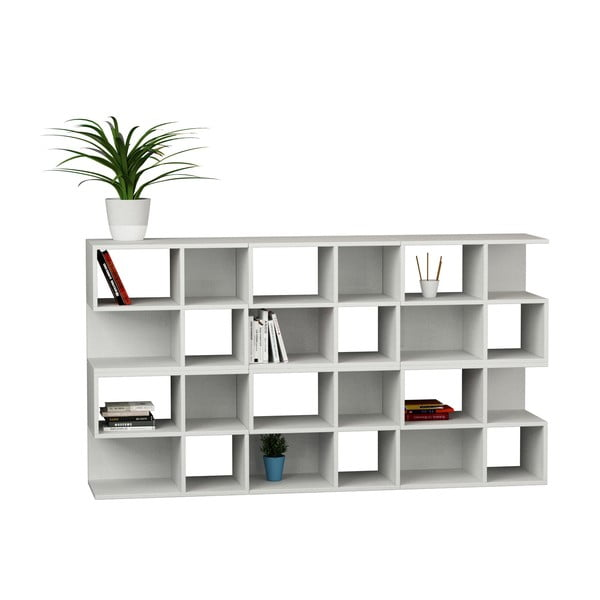 Knihovna Aaron 162 cm, bílá