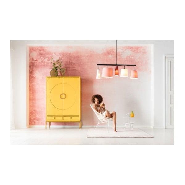Růžové závěsné svítidlo Kare Design Parecchi, délka 114 cm