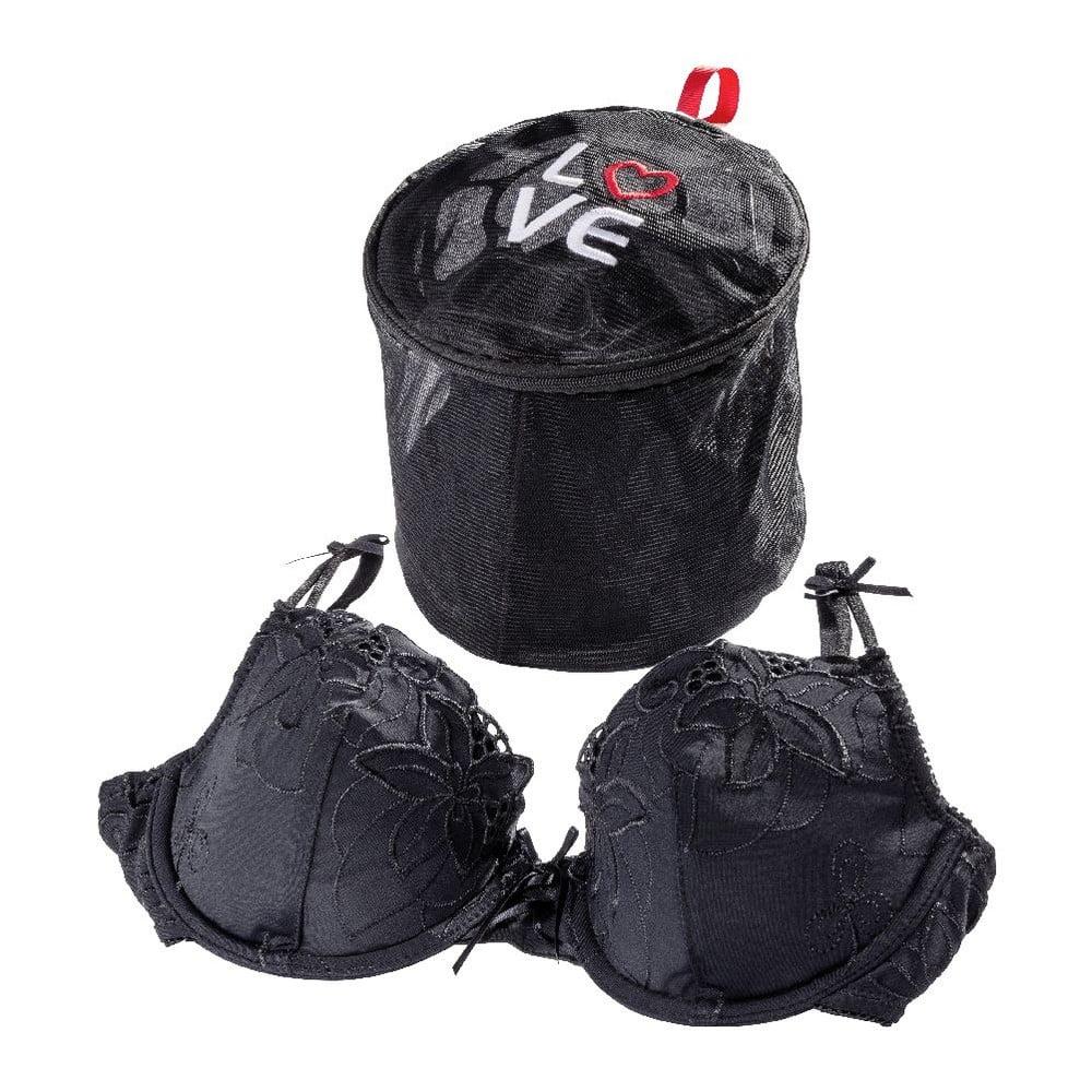 Černá síťka na praní spodního prádla Wenko Love