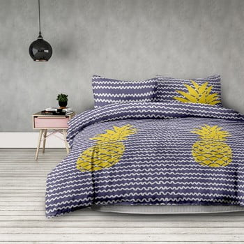 Lenjerie de pat din microfibră AmeliaHome Pineapple, 260 x 220 cm de la AmeliaHome