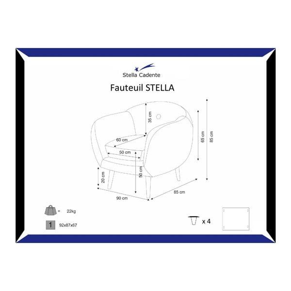Šedé křeslo Stella