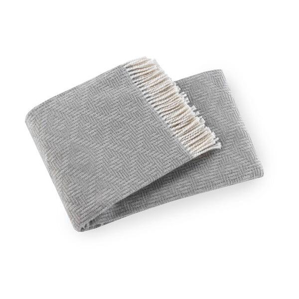 Sivý pléd s podielom bavlny Euromant Aisha, 140×180 cm