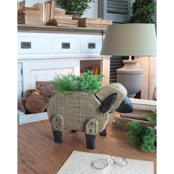 Dřevěný květináč Vintage Sheep