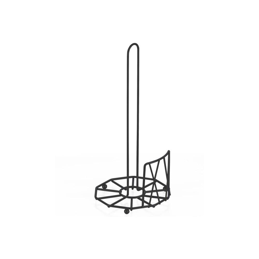 Černý stojan na kuchyňské utěrky PT LIVING Diamond Cut