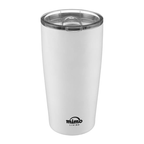 Bílý nerezový termohrnek Premier Housewares Mimo,550ml