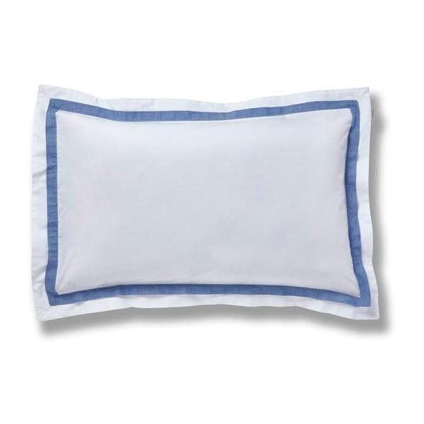 Modrý povlak na polštář Bianca Chambray, 50x75cm
