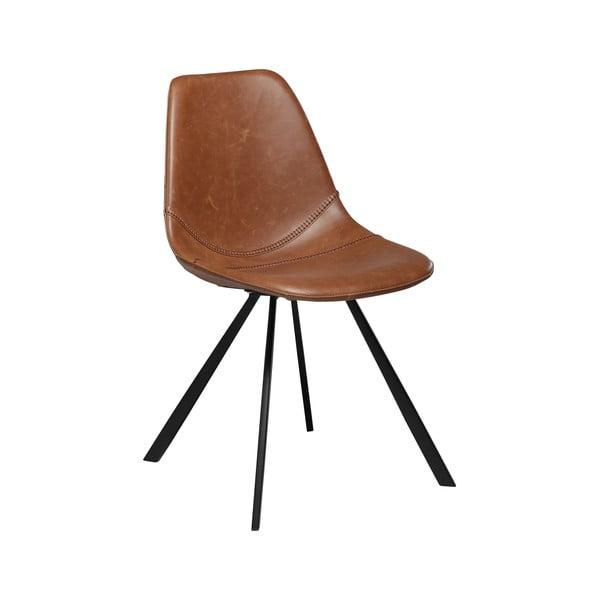 Hnědá jídelní židle z eko kůže DAN–FORM Denmark Pitch