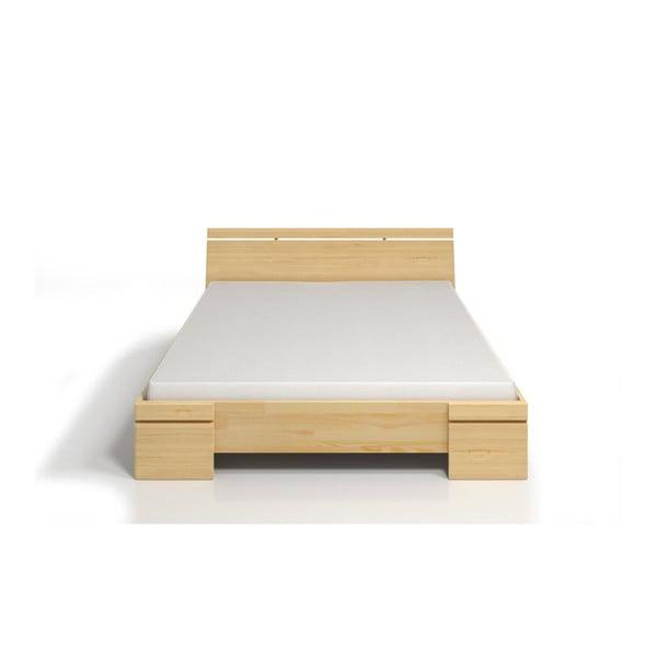 Pat dublu din lemn de pin SKANDICA Sparta Maxi, 200 x 200 cm