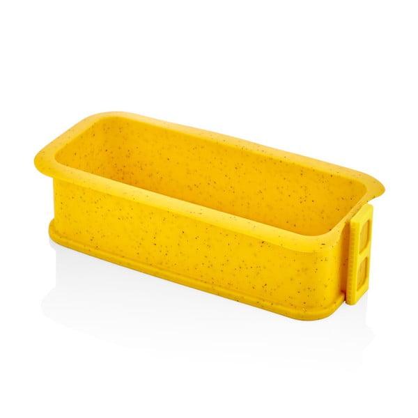 Formă din silicon pentru coacere The Mia Maya, lungime 29 cm, galben