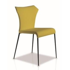 Žlutozelená jídelní židle Ángel Cerdá Isabel