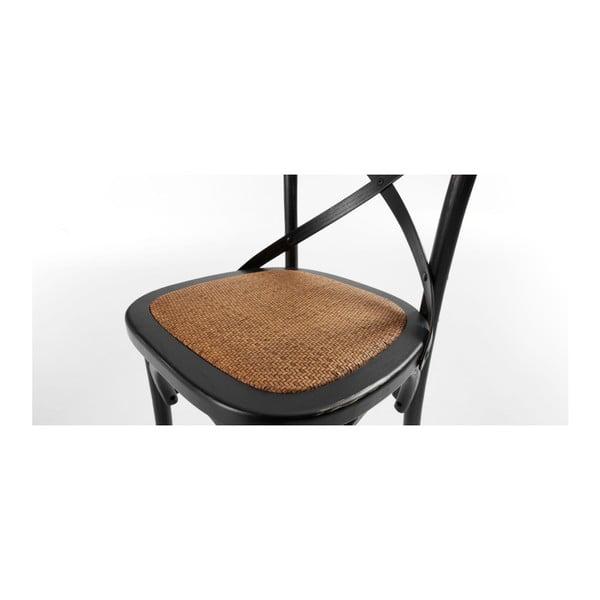 Židle Silea, černá/přírodní