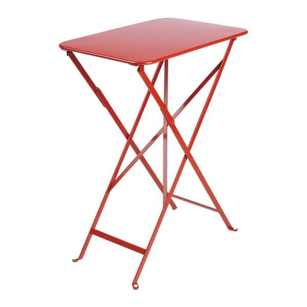 Červený zahradní stolek Fermob Bistro, 37 x 57 cm