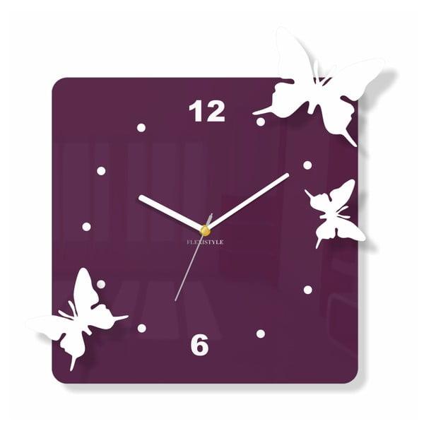 Hodiny z plexiskla Flying Purple