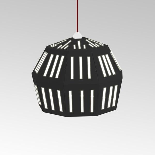 Kartonové svítidlo Uno Fantasia C Black, s červeným kabelem