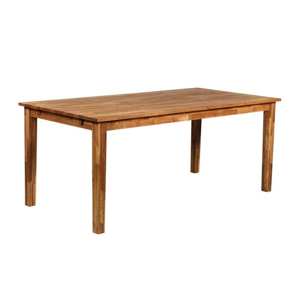 Jedálenský stôl z masívneho dubového dreva Folke Finnus, 180 × 90 cm