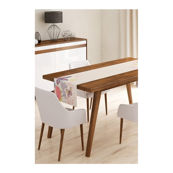 Běhoun na stůl z mikrovlákna Minimalist Cushion Covers Butterflies, 45x145cm
