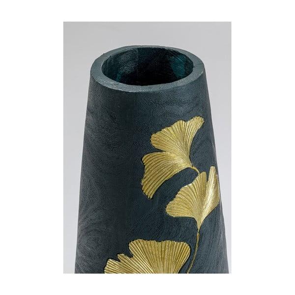 Vază cu motiv frunze aurii Kare Design, înălțime 95 cm, verde