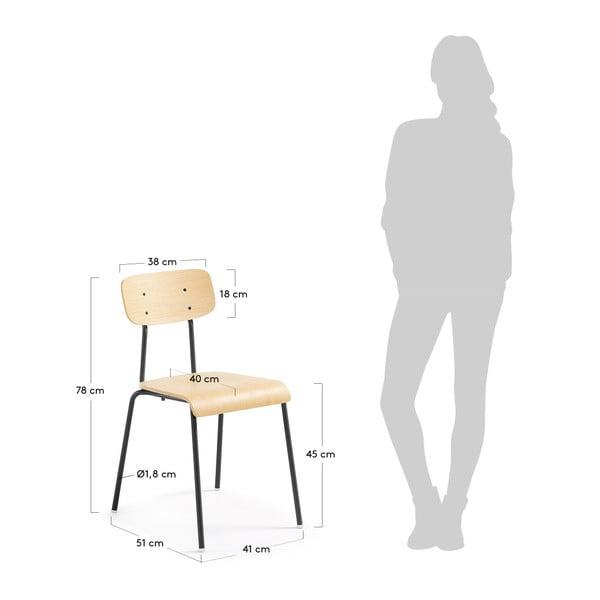 Sada 4 židlí s černou konstrukcí La Forma Klee