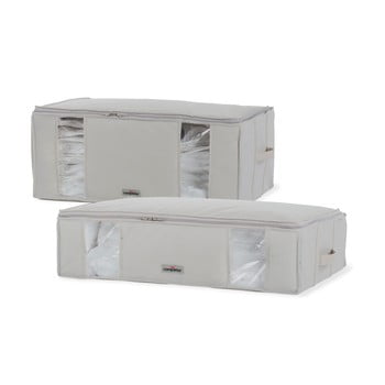 Set 2 cutii cu vid pentru depozitare sub pat Compactor XXL Life imagine