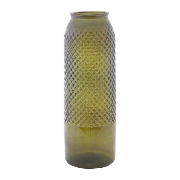 Zelená váza z recyklovaného skla Mauro Ferretti Bolt, ⌀ 15 cm