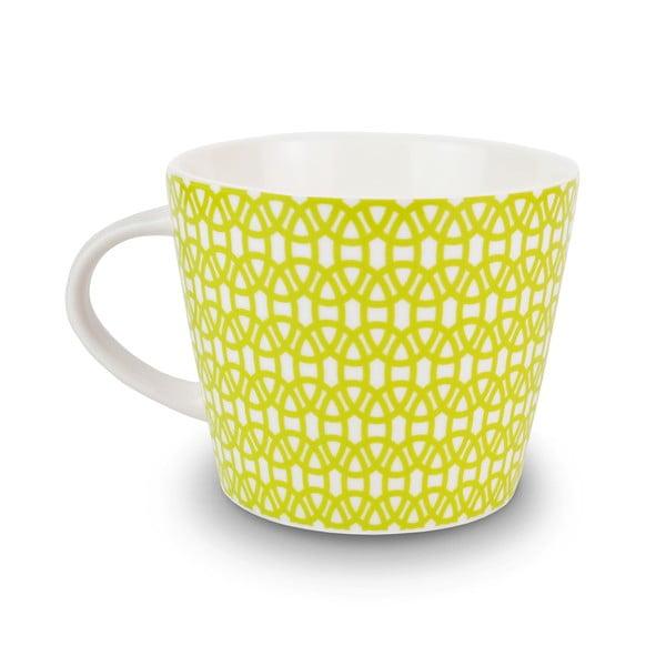 Hrnek Lace Charcoal/Lime, 350 ml