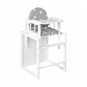 Bílá multifunkční židlička sestolečkem RobaLittleStarsCombi