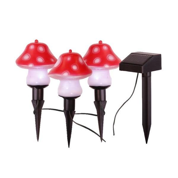 Sada 3 světelných zahradních dekorací Best Season Mushroom