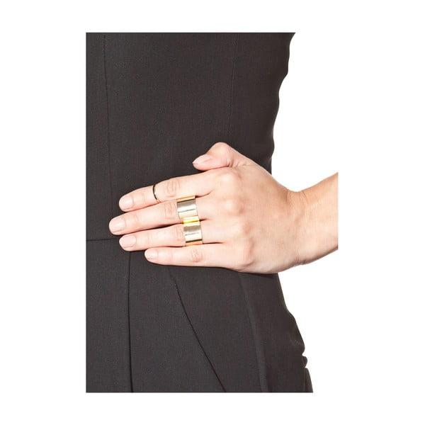 Set 3 inele damă NOMA Anastacia, auriu