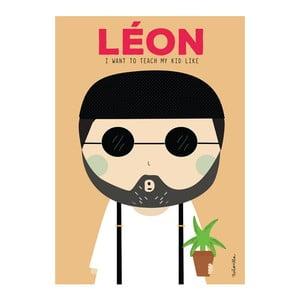Plakát NiñaSilla Leon, 21x42cm