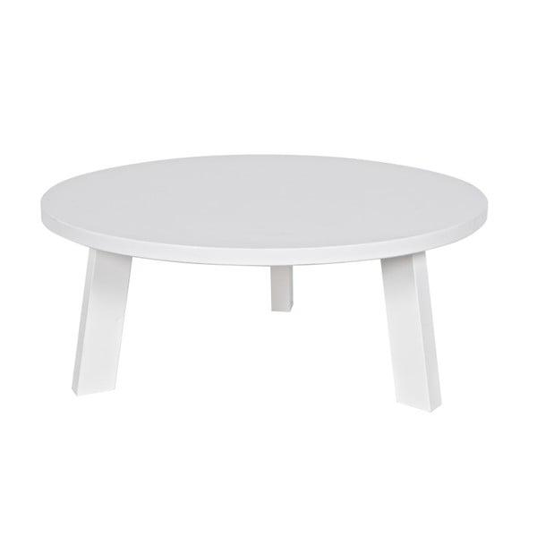 Bílý konferenční stolek z borovicového dřeva De Eekhoorn Rhonda