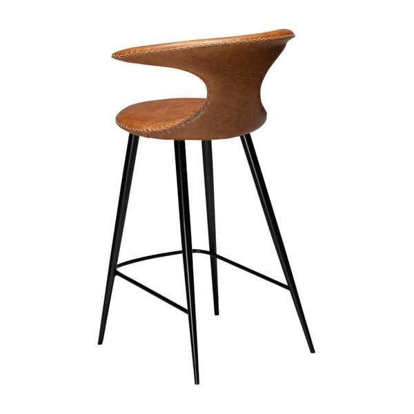 Koňakově hnědá kožená barová židle DAN–FORM Denmark Flair Leather