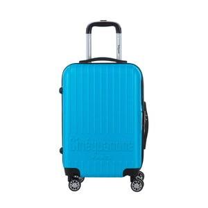 Tyrkysově modrý cestovní kufr na kolečkách s kódovým zámkem SINEQUANONE Iskra, 44l
