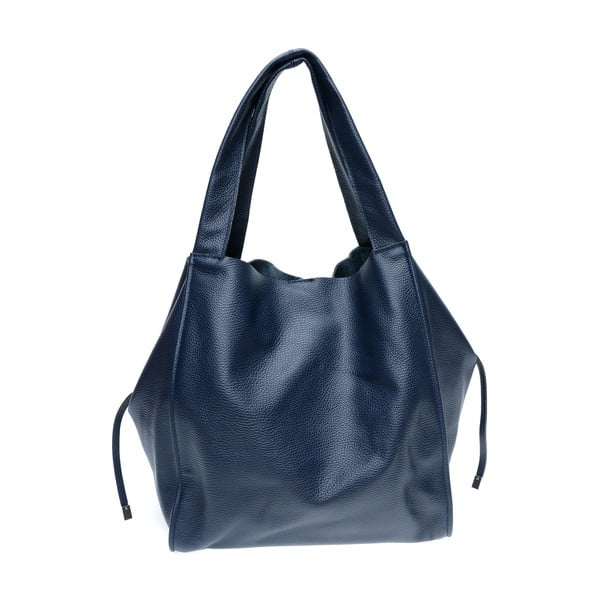 Modrá kožená nákupná taška Isabella Rhea