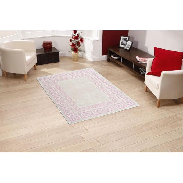 Krémový bavlněný koberec Floorist Maisha, 100x200cm