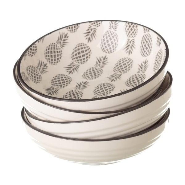 Šedobílá porcelánová miska Unimasa Pinna, průměr12,9cm