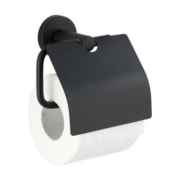 Suport pentru hârtie igienică Wenko Bosio Cover, negru imagine
