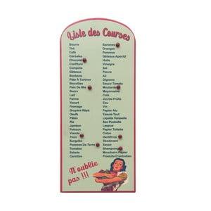 Nástěnka s nákupním seznamem Antic Line List