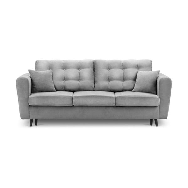 Chillout szürke kinyitható kanapé tárolóval - Kooko Home
