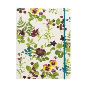 Blocnotes cu linii A5, cu elastic, Portico Designs Laura Ashley, 80 pag.