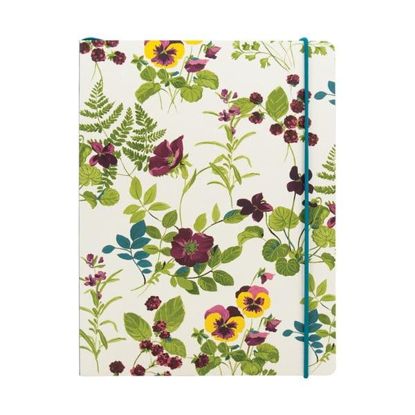 Linkovaný zápisník A5  Laura Ashley Parma Violets by Portico Designs, 80stránek