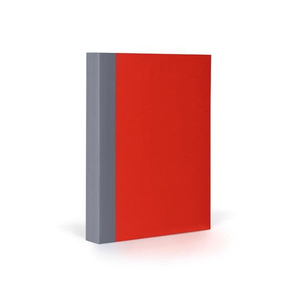 Zápisník FANTASTICPAPER A6 Cherry/Grey, čtverečkový