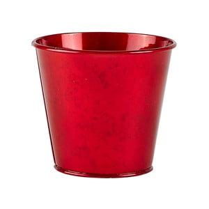 Červený květináč KJ Collection Rudy, výška 10 cm